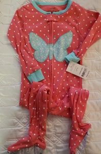 Carters, cotton footed pajamas, NWT 18 mo